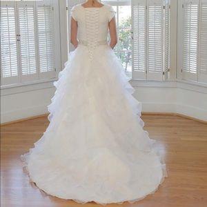 Wedding Dresses - Fabulous Organza Modest Custom Made Wedding Dress